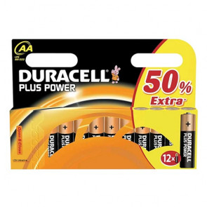 Duracell Plus Power AA Batterier 12 stk.