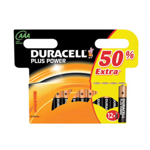 Duracell plus power AAA 12stk