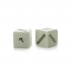 Glow In The Dark Love Dice - Selvlysende Terninger