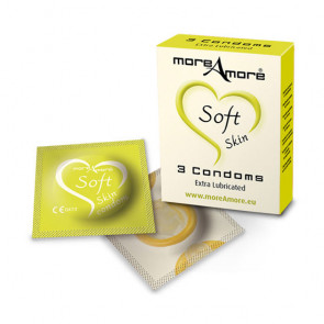 MoreAmore Soft Skin - 3 Normale Kondomer