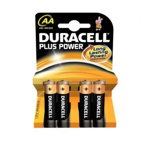 Duracell Plus Power AA Batterier 4 stk.